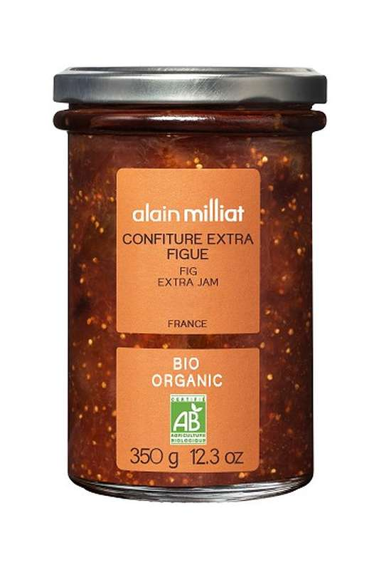 Confiture Extra Figue BIO, Alain Milliat (350 g)
