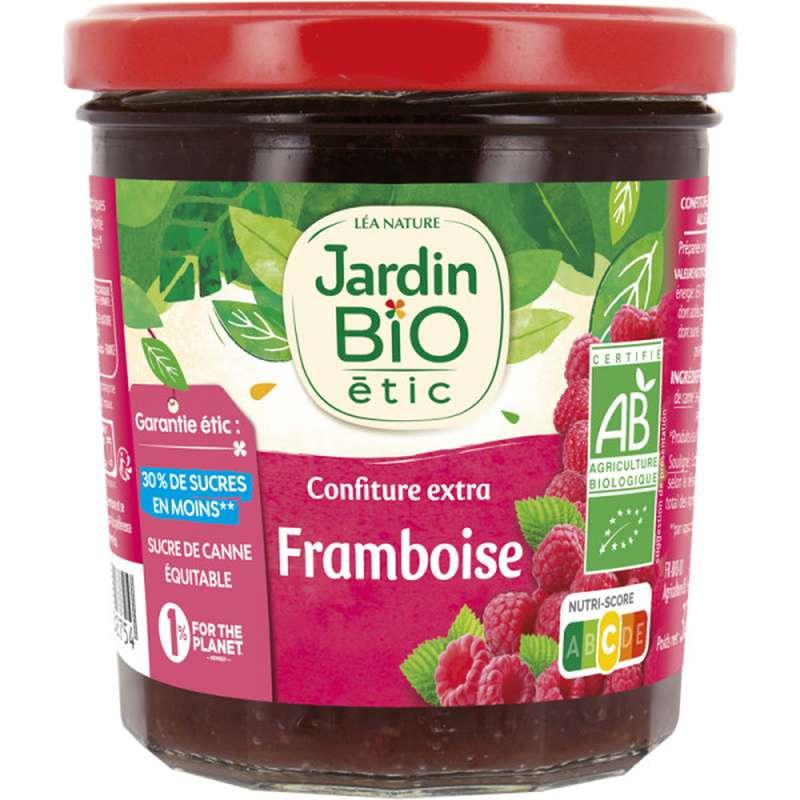 Confiture extra framboise BIO, Jardin Bio (320 g)