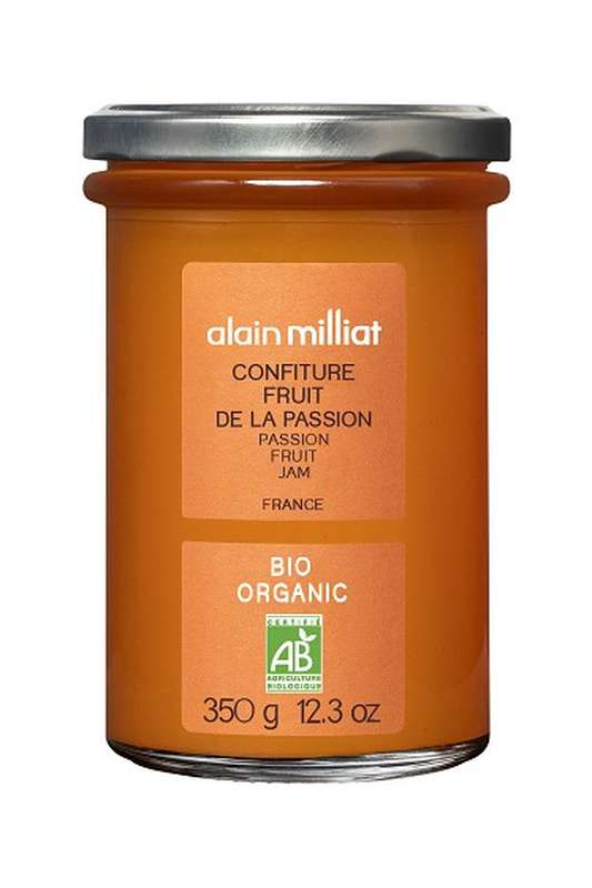 Confiture Extra Fruit de la Passion BIO, Alain Milliat (350 g)