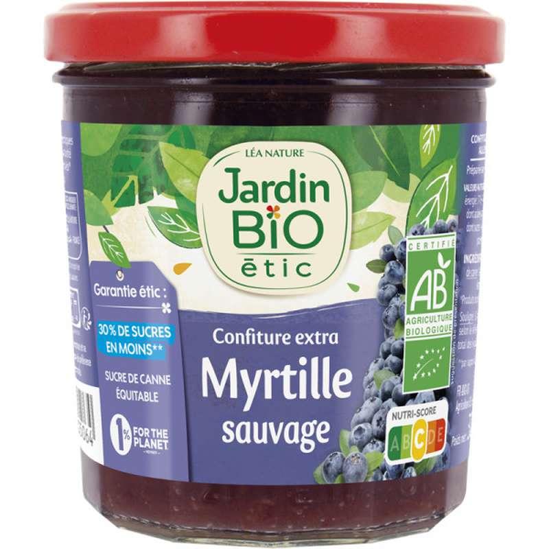 Confiture extra myrtilles sauvages BIO, Jardin Bio (320 g)
