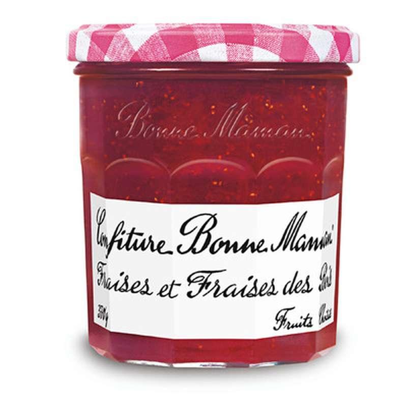 Confiture fraises et fraises des bois, Bonne Maman (370 g)