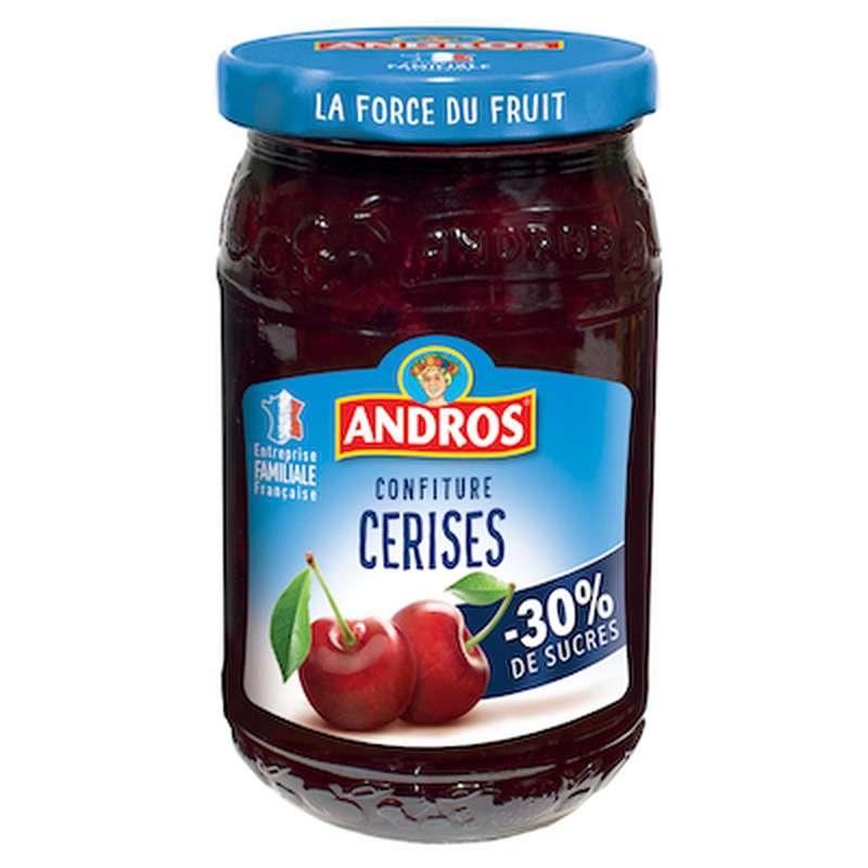 Confiture cerises allégée, Andros (350 g)