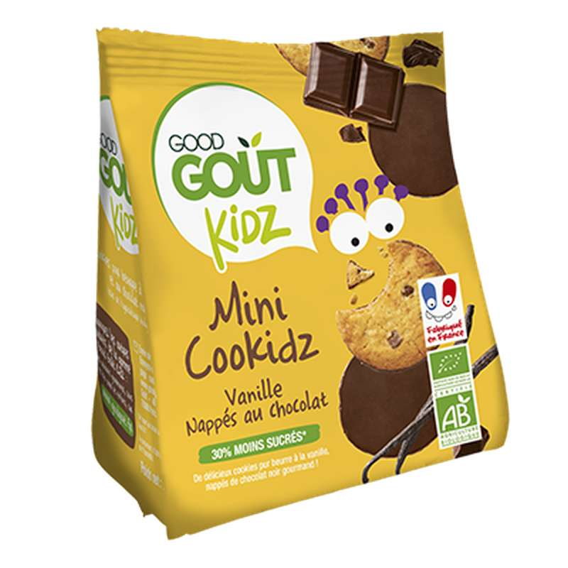 Cookidz vanille nappés chocolat BIO - dès 3 ans, Good Goût Kid'z (115 g)