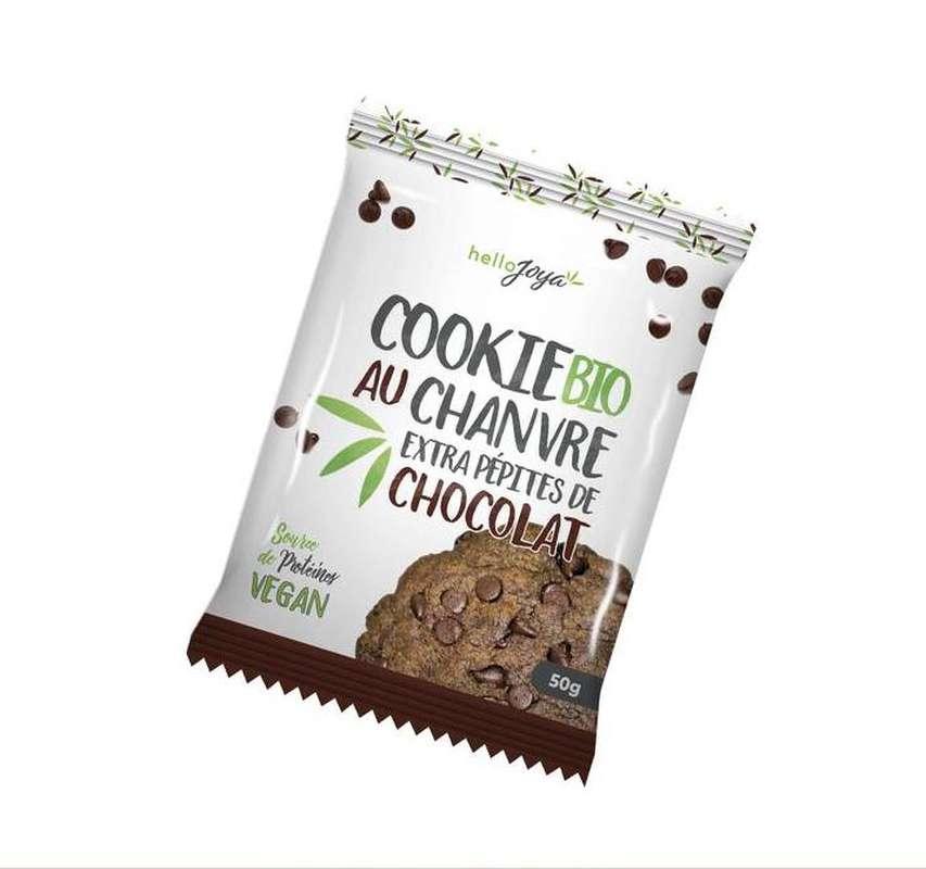 Cookie au chanvre extra aux pépites de chocolat BIO Vegan, Hello Joya (50 g)