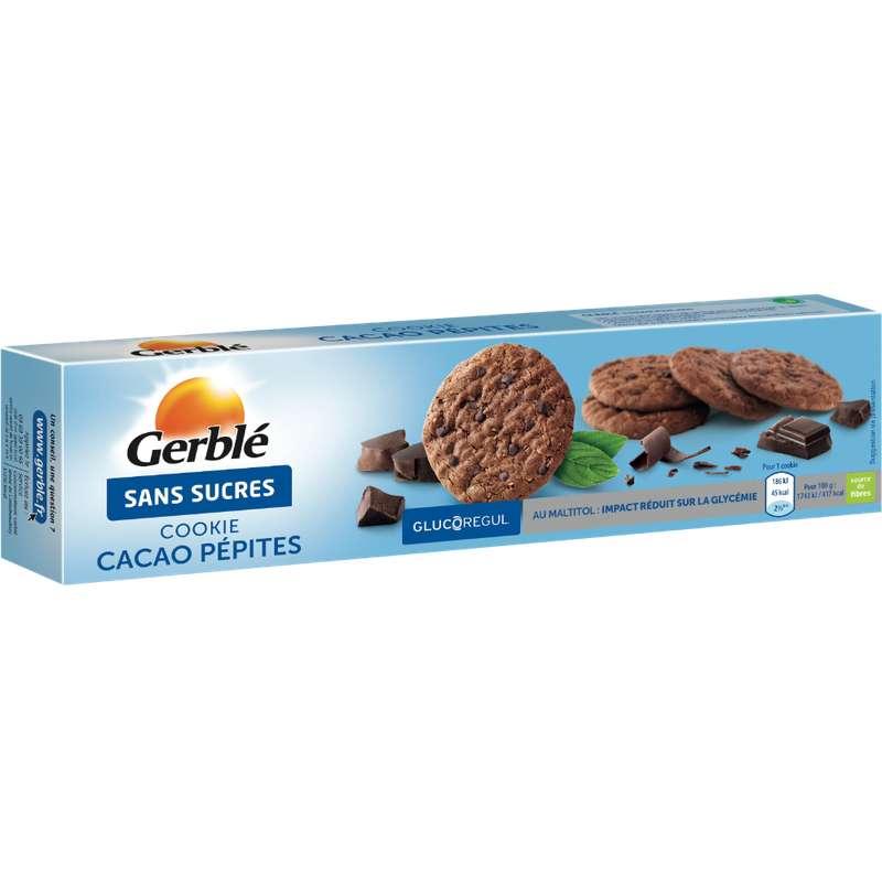 Cookies au cacao et aux pépites de chocolat sans sucre ajouté, Gerblé (130 g)