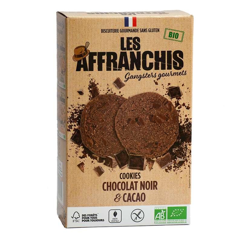Cookies Chocolat noir et Cacao BIO, Les Affranchis (x6, 150g)