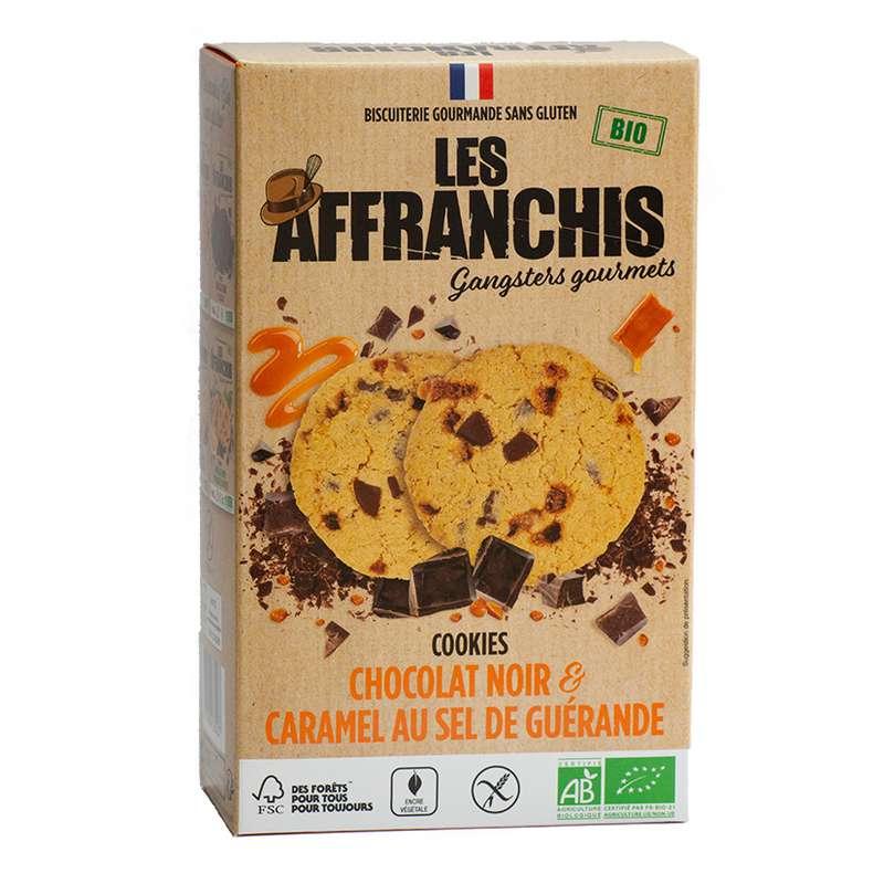 Cookies Chocolat noir et Caramel au sel de Guérande sans gluten BIO, Les Affranchis (x6, 150g)