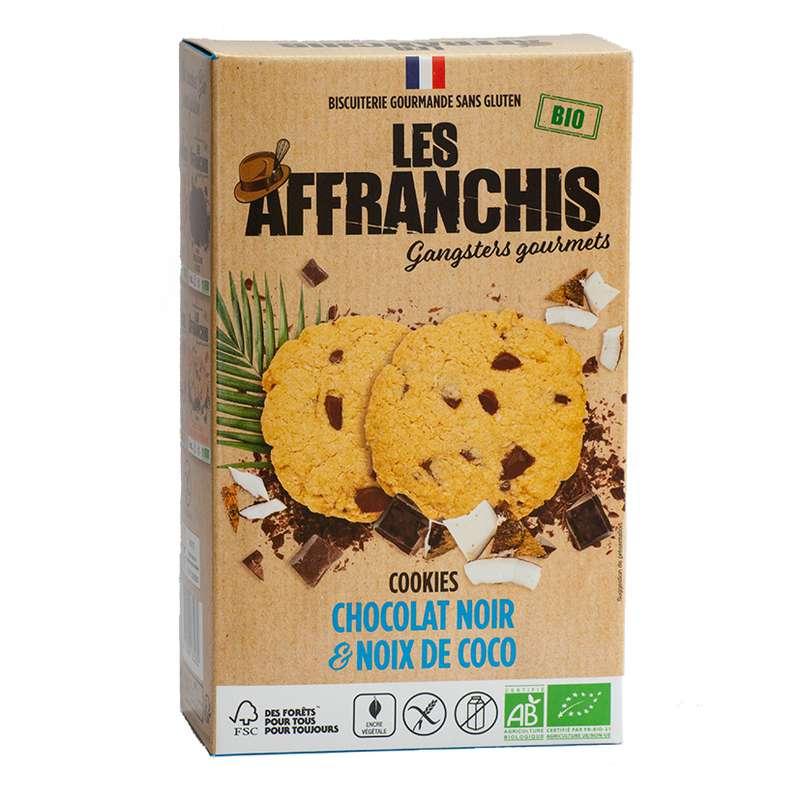 Cookies Chocolat noir et Noix de coco Sans Gluten BIO, Les Affranchis (x6, 150g)