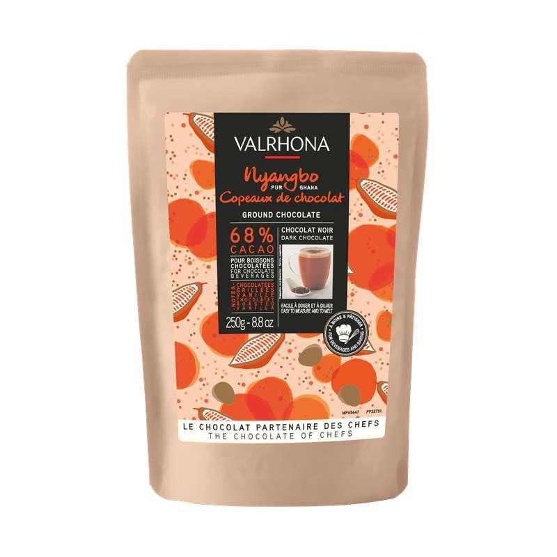 Copeaux de chocolat Nyangbo - préparation pour chocolat chaud, Valrhona (250 g)