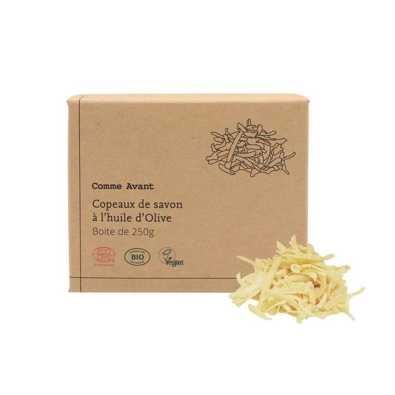 Copeaux de savon à l'huile d'olive vegan BIO, Comme Avant (250 g)