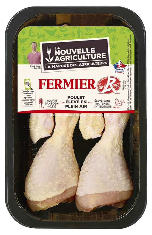Pilons de poulet fermier, La Nouvelle Agriculture (x 5, 600 g)