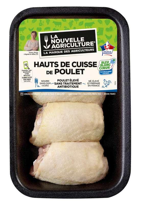 Hauts de cuisse de poulet, La Nouvelle Agriculture (x 4, 500 g)