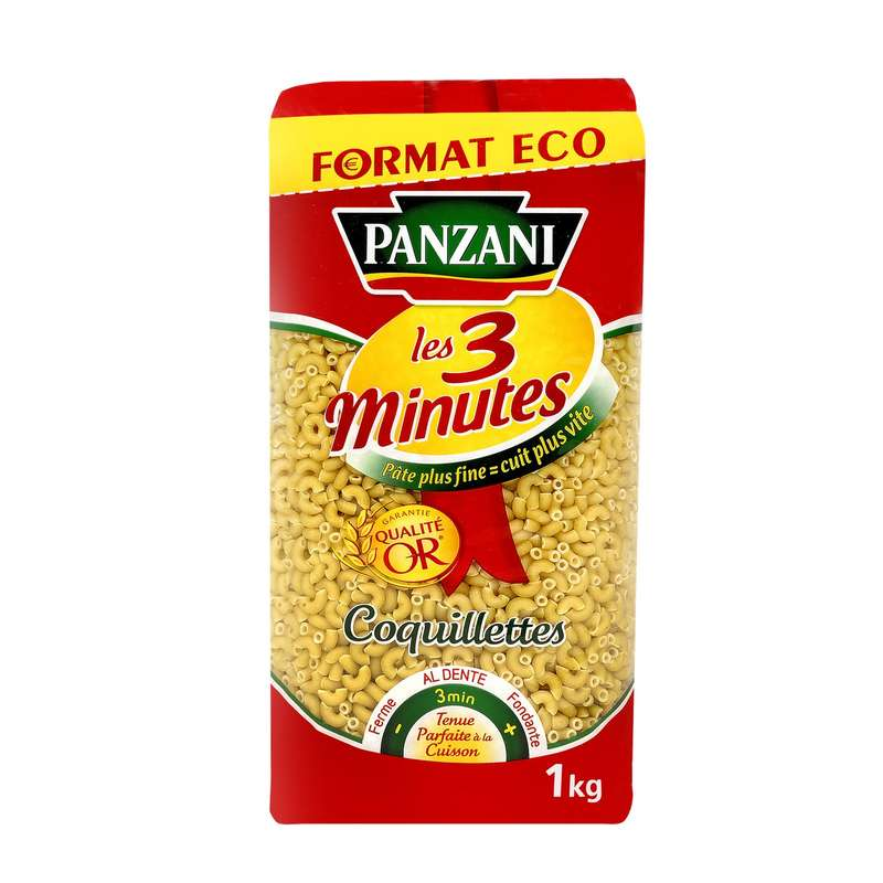 Coquillettes 3mn, Panzani (1 kg)