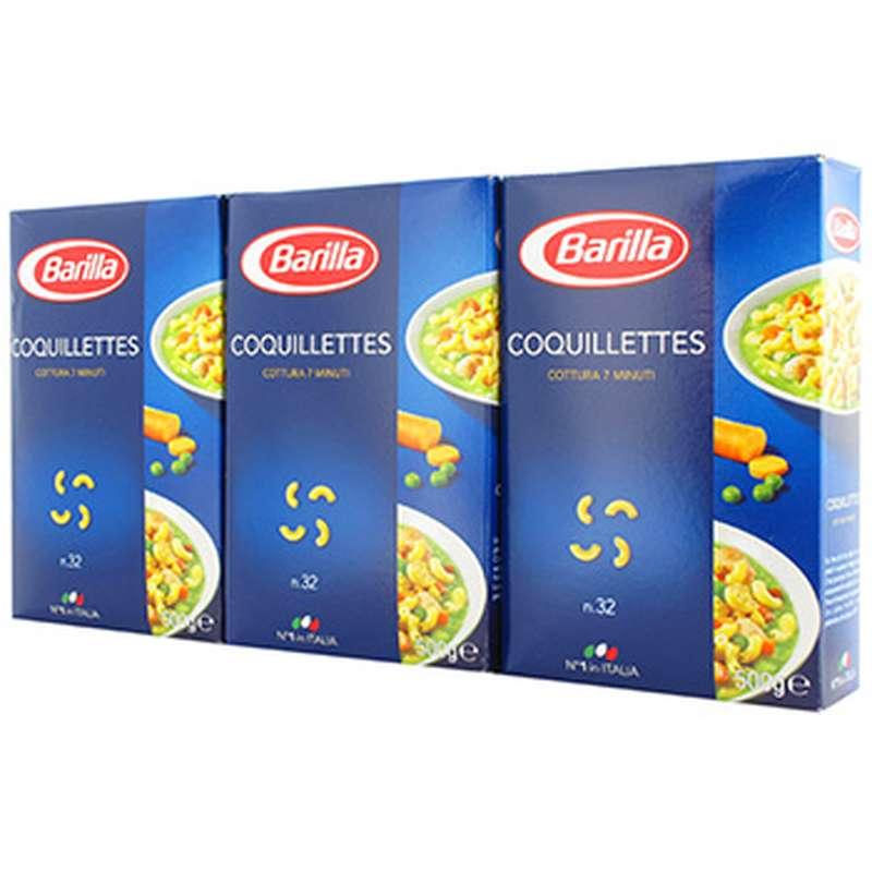 Coquillettes, Barilla LOT DE 3 (3 x 500 g)