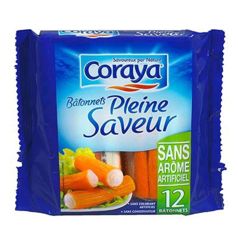 Bâtonnets de surimi Pleine saveur, Coraya (x 12, 180 g)