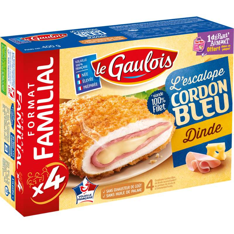 Cordon bleu de dinde, Le Gaulois (x 4, 400 g)