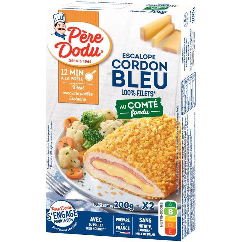 Cordon bleu de poulet au comté fondu, Père Dodu (x 2, 200 g)