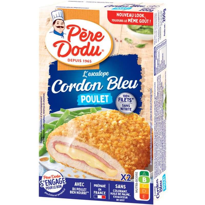 Cordon bleu de poulet 100% filets, Père Dodu (x 2, 200 g)