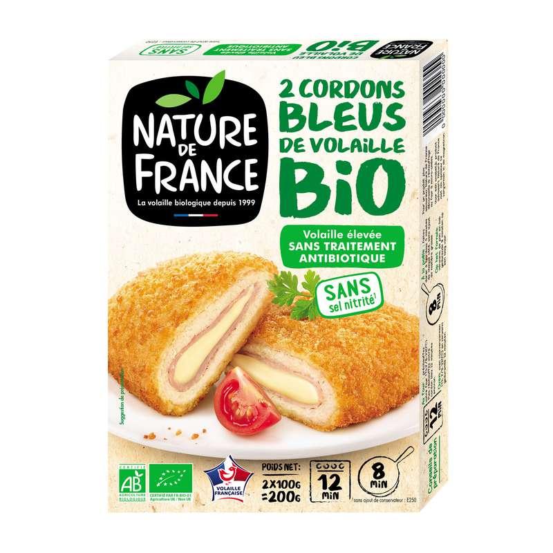 Cordons bleus de volaille BIO, Nature de France (200 g)