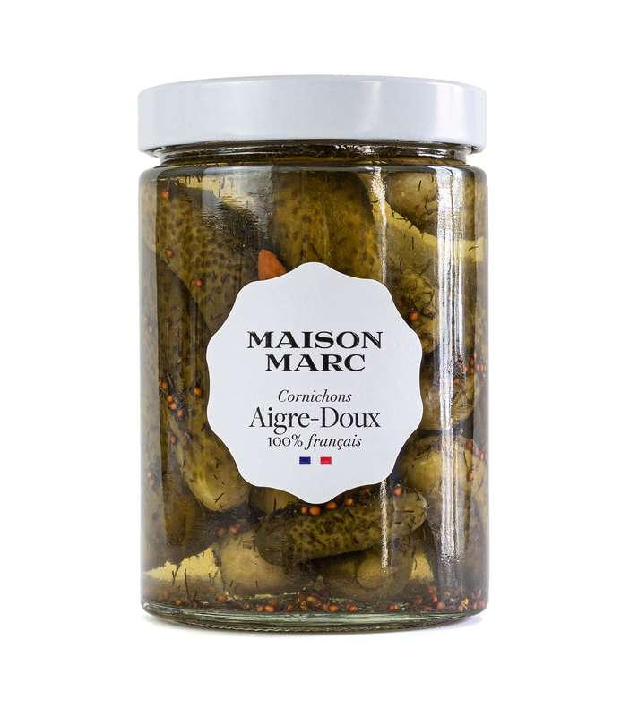 Cornichons aigre-doux, Maison Marc (200 g)