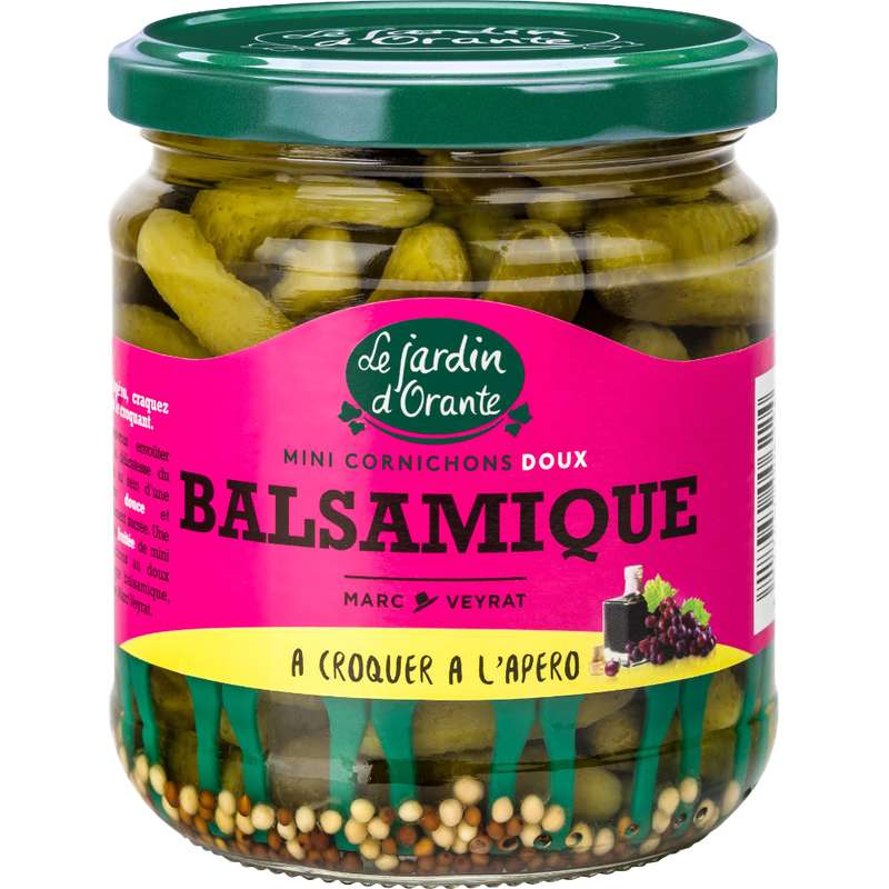Cornichons balsamique, Le jardin d'Orante (185 g)