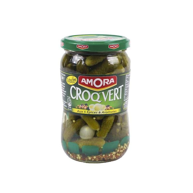 Cornichons extra fins Croq Vert, Amora (205 g)