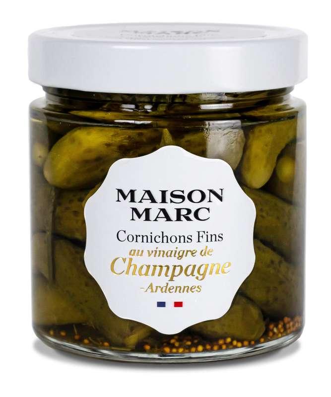 Cornichons fins au vinaigre de Champagne Ardennes, Maison Marc (210 g)
