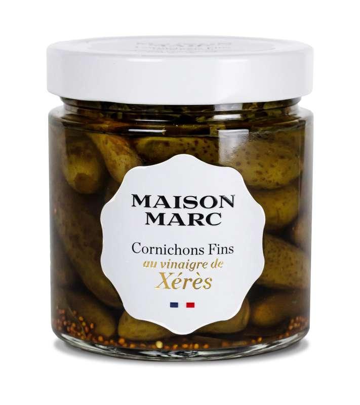 Cornichons fins au vinaigre de Xérès, Maison Marc (210 g)