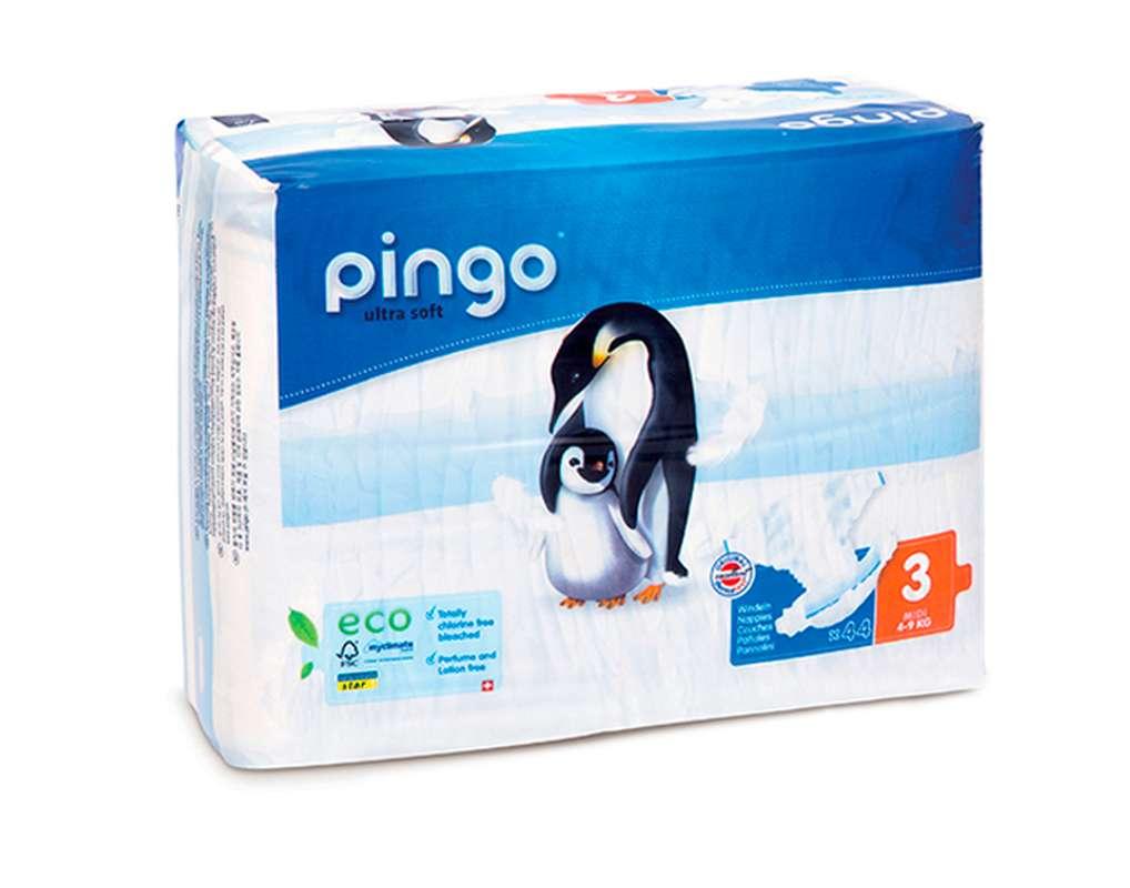 Couches écologiques T3 midi / 4-9 kg, Pingo (44 couches)