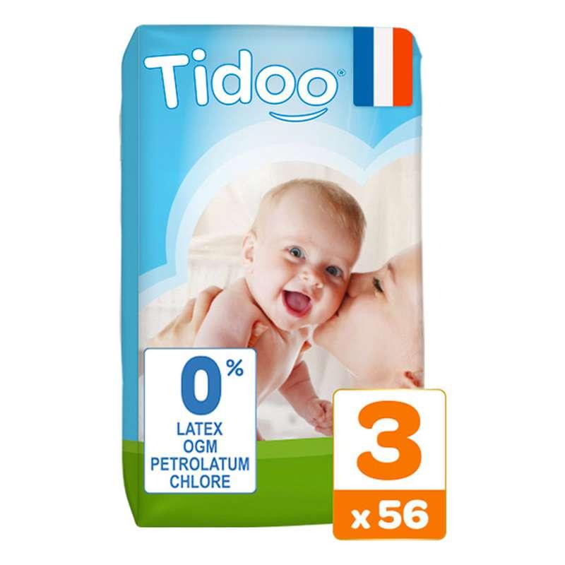 Couches écologiques T3 - M / 4-9 kg, Tidoo Nature (56 couches)