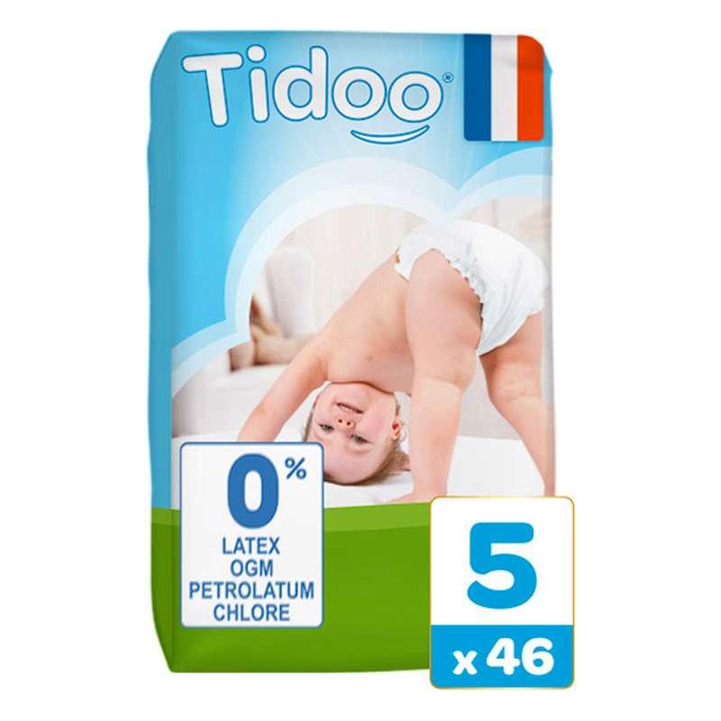 Couches écologiques T5 - XL / 12-25 kg, Tidoo Nature (46 couches)