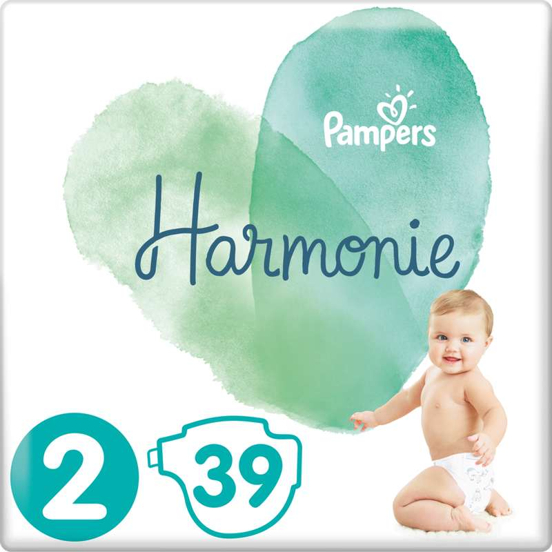 Couches Harmonie T2 / 4-8 kg, Pampers (x 39)