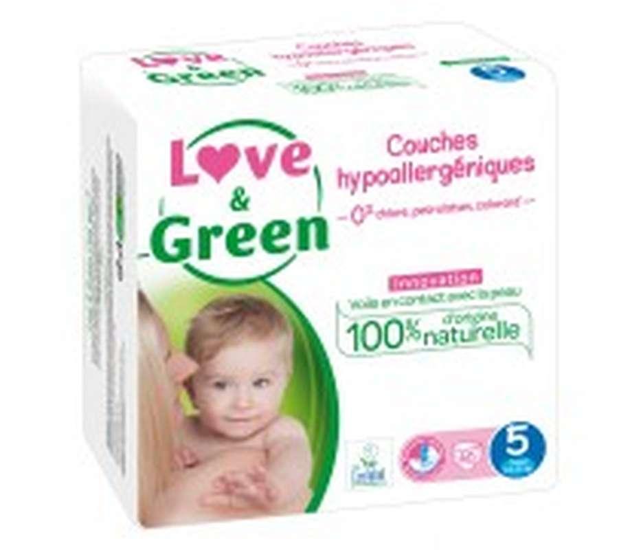 Couches sensitives et écologiques - T5, Love & Green (x 40)