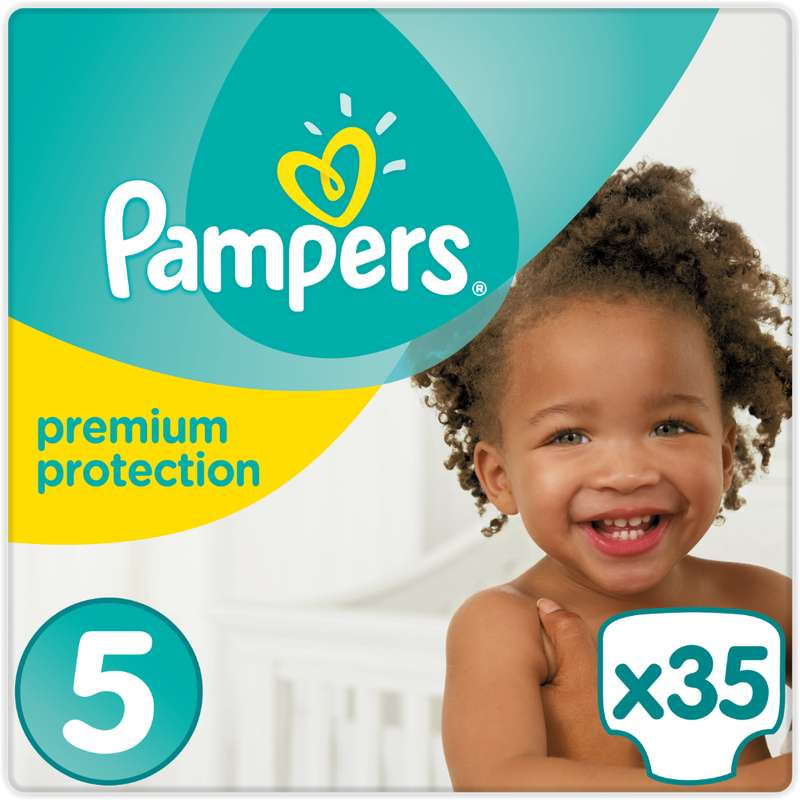 Couches premium protection junior T5 / 11-16 kg, Pampers (x 35)