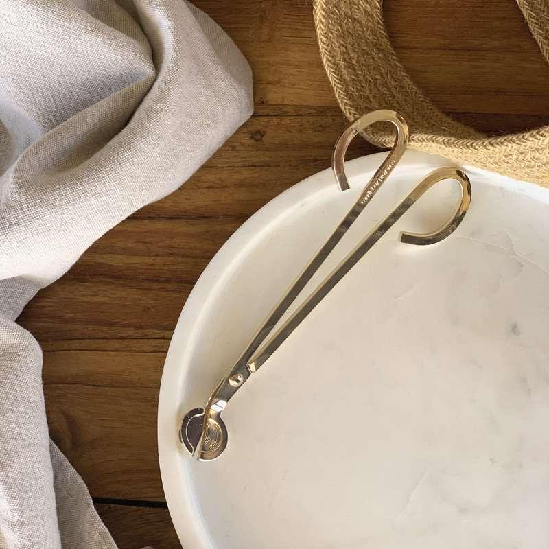 Coupe-mèche gravé doré, Candlebox Provence