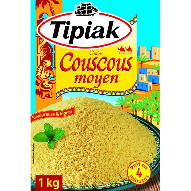 Couscous moyen, Tipiak (1 kg)