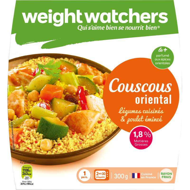 Couscous oriental légumes et poulet, Weight Watchers (300 g)