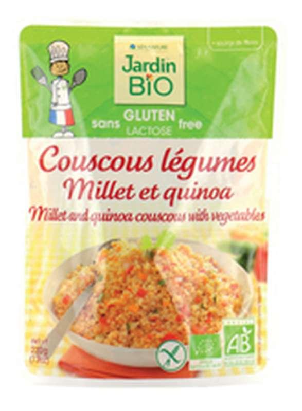 Couscous légumes Millet et quinoa sans gluten BIO, Jardin Bio (220 g)