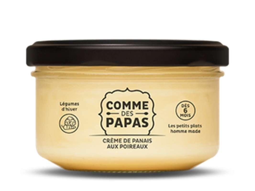 Crème de panais aux poireaux BIO - 6 mois, Comme des papas (130 g)
