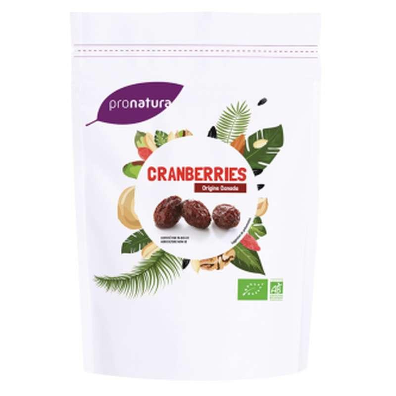 Cranberrie/canneberge séchée BIO, Pronatura (125 g), Canada