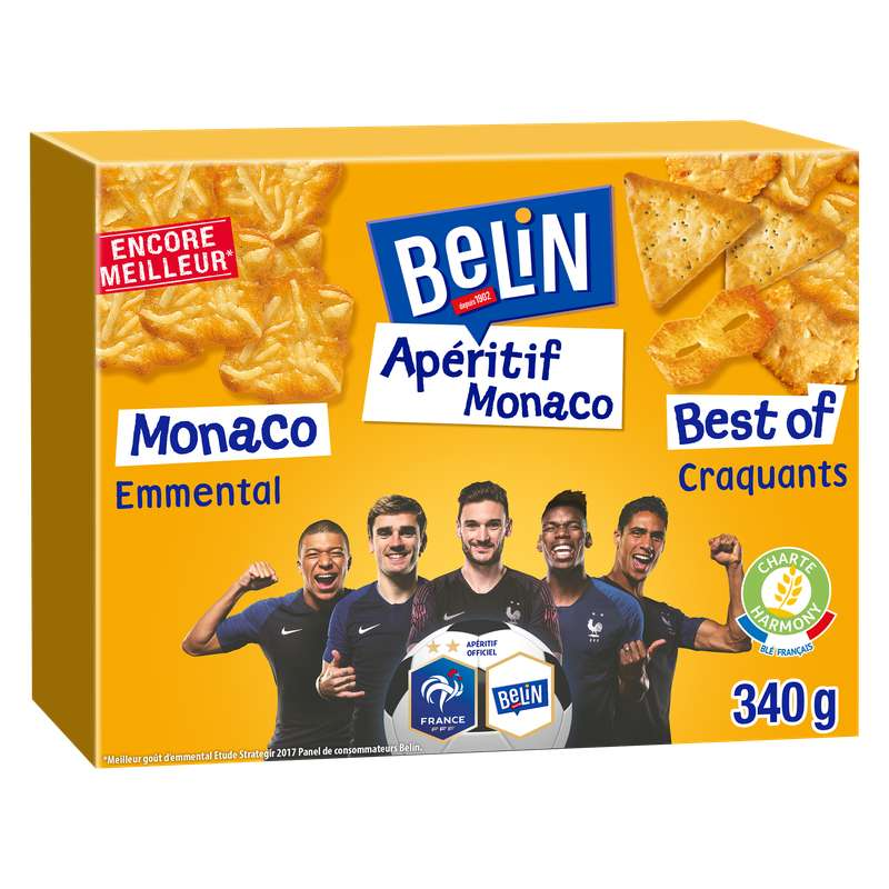Crackers Apéritif Monaco et Best of Croquants, Belin (340 g)