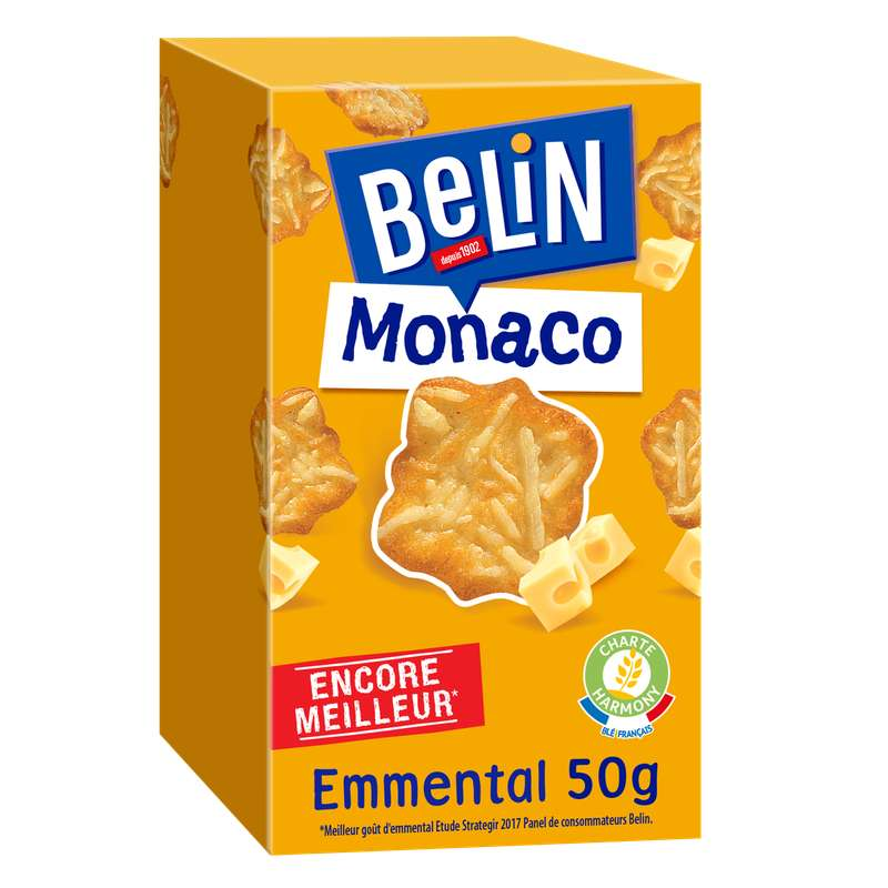 Crackers Monaco Emmental, Belin (50 g)