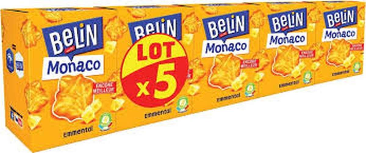 Crackers Monaco Emmental, Belin (Lot de 5 x 100 g)