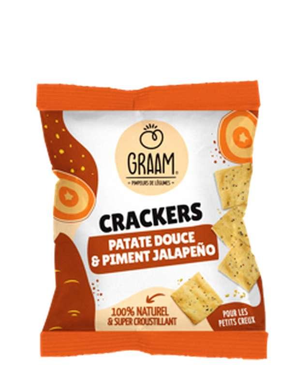Crackers Patate Douce et Piment Jalapeño Vegan et Sans Gluten, Graam (30 g)