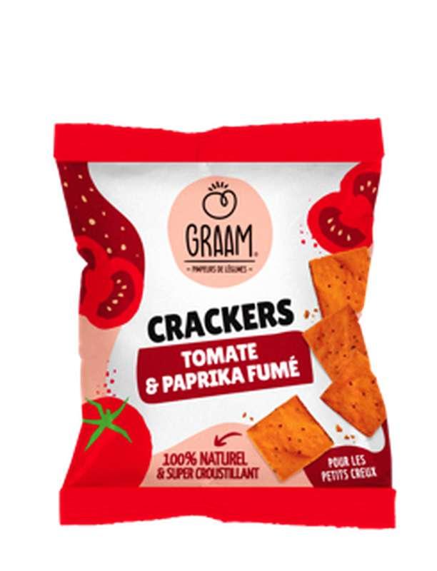 Crackers Tomate et Paprika fumé Vegan et Sans Gluten, Graam (30 g)