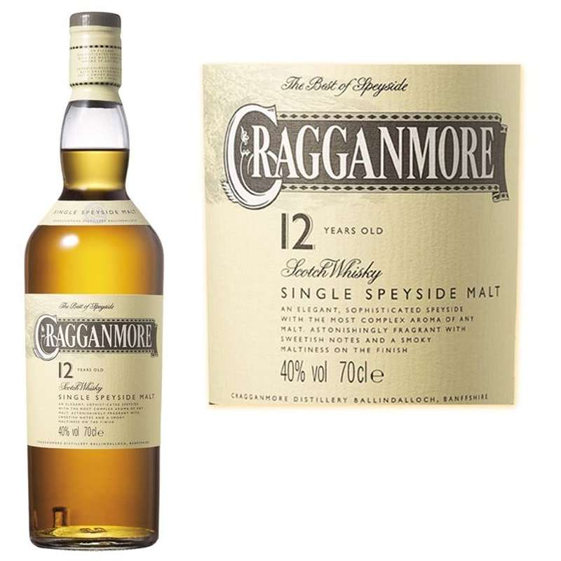 Whisky Cragganmore 12 ans d'âge (70 cl)