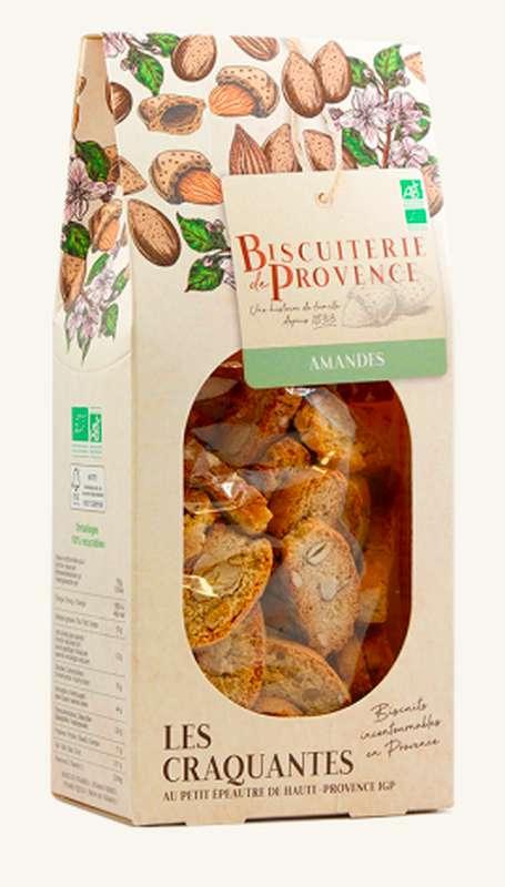 Craquantes aux amandes BIO, Biscuiterie de Provence (180 g)