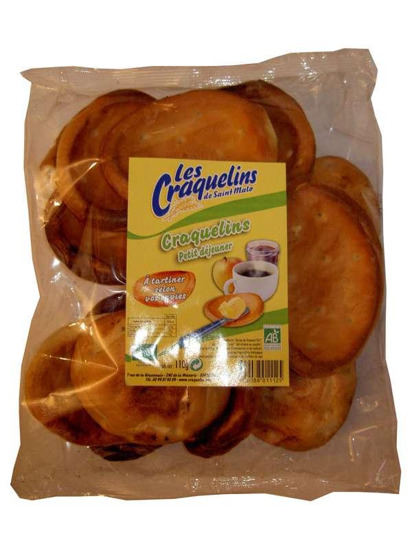 Craquelins petit déjeuner nature BIO, Les Craquelins de Saint Malo (environ 12 pièces, 110 g)