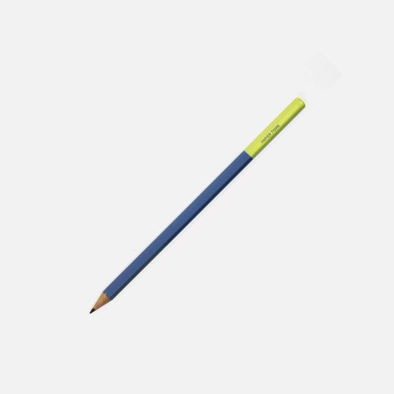 Crayon Bleu-Jaune, Papier Tigre