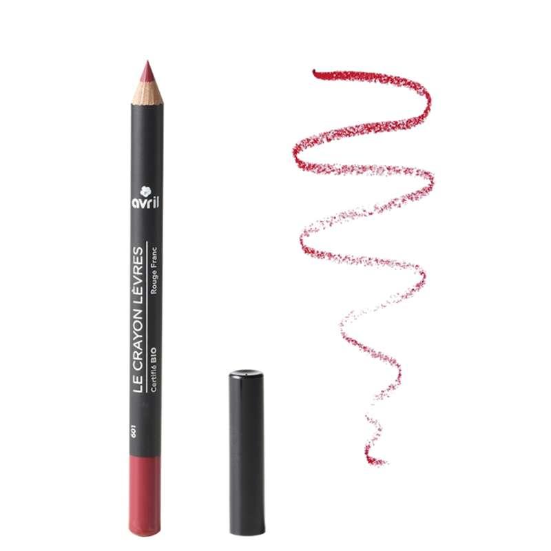Crayon contour des lèvres rouge franc certifié BIO, Avril (1 g)